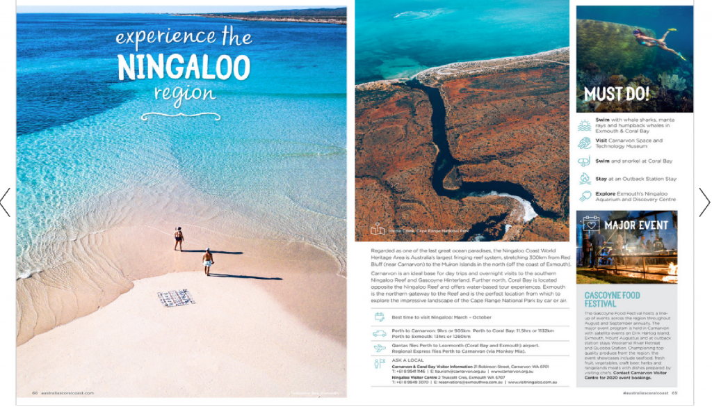 Australia's Coral Coast FREE 2020 Holiday Planning Guide!