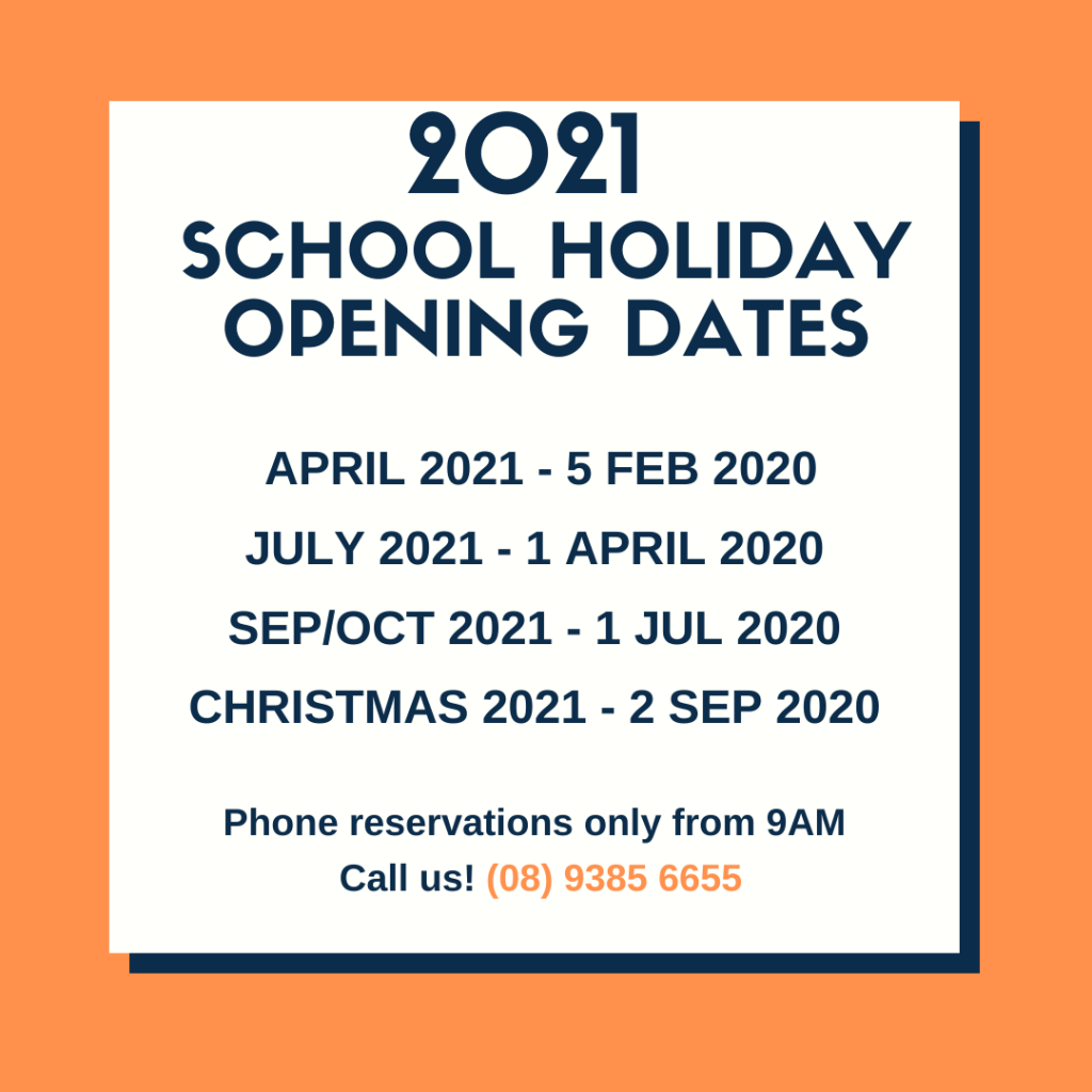 2021 School Holidays - Opening Dates Released